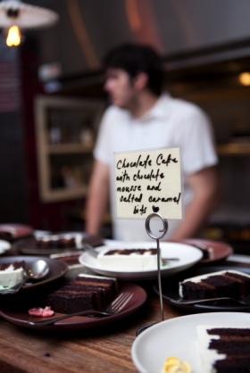 Chocolate mousse wedding cake