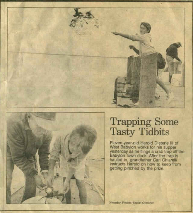 Harold Dieterle, age 11, featured in Newsday