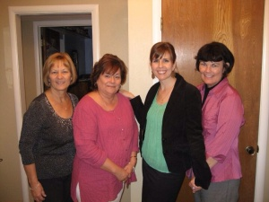Gail Jones (second from left) was one of several longtime family friends who threw me a bridal shower.